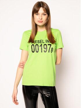 Diesel Diesel T-Shirt T-Sily 00SC3F 0CATJ Zielony Regular Fit