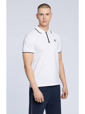 Vistula Vistula Тениска с яка и копчета Malte XA1178 Бял Regular Fit