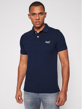 Superdry Superdry Polo Classic Pique M1110031A Granatowy Regular Fit