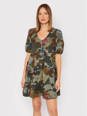 Desigual Desigual Kleid für den Alltag Cam 21WWVK74 Grün Loose Fit