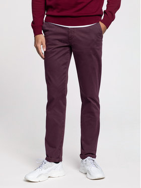 Vistula Vistula Текстилни панталони Malcolm XA0869 Бордо Regular Fit