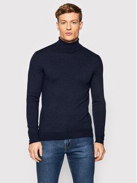 Guess Guess Bluză cu gât M1BR17 Z2VX2 Bleumarin Regular Fit