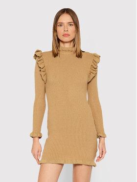 Rinascimento Rinascimento Трикотажна сукня CFM0010441003 Коричневий Slim Fit