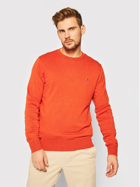 Tommy Hilfiger Tommy Hilfiger Пуловер Blend MW0MW15431 Оранжев Regular Fit