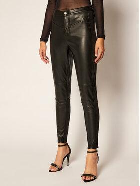 Calvin Klein Jeans Calvin Klein Jeans Kožené nohavice J20J214183 Čierna Slim Fit