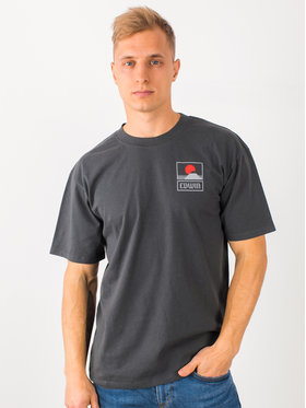 Edwin Edwin T-Shirt Sunset On Mt Fuji Ts I025881 TG372M4 EBN67 Szary Regular Fit