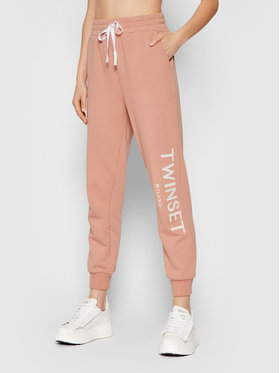 TwinSet TwinSet Pantaloni trening 212TP2572 Roz Relaxed Fit