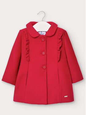 Mayoral Mayoral Cappotto 2406 Rosso Regular Fit