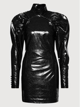 ROTATE ROTATE Sukienka z imitacji skóry Kim RT452 Czarny Regular Fit
