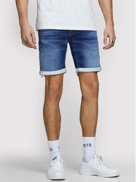 Jack&Jones Jack&Jones Džínsové šortky Rick Icon 12166269 Tmavomodrá Regular Fit