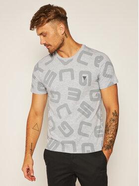 Guess Guess Marškinėliai G Allover M0YI84 I3Z00 Pilka Slim Fit