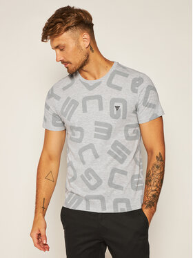 Guess Guess T-Shirt G Allover M0YI84 I3Z00 Szary Slim Fit
