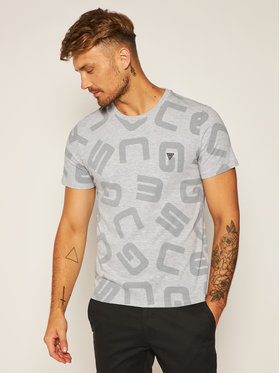 Guess Guess Тишърт G Allover M0YI84 I3Z00 Сив Slim Fit