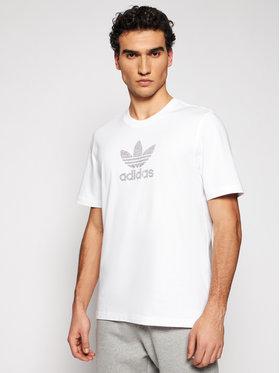 adidas adidas T-Shirt Trefoil Rhinestone GN3647 Biały Standard Fit