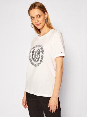 Tommy Hilfiger Tommy Hilfiger T-Shirt Floral WW0WW29659 Weiß Regular Fit