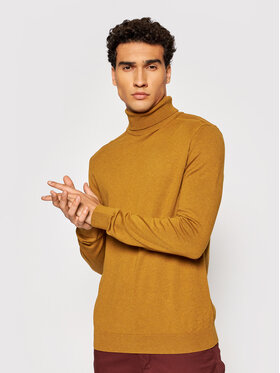 Selected Homme Selected Homme Bluză cu gât Berg 16074684 Maro Regular Fit