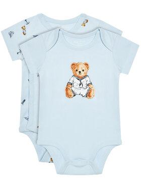 Lauren Ralph Lauren Lauren Ralph Lauren Komplet 2 par body dziecięcych 320834125001 Niebieski