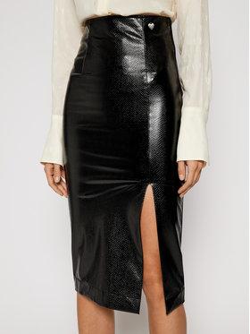 TwinSet TwinSet Sukňa z imitácie kože 202TT2454 Čierna Slim Fit