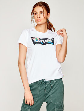 Levi's® Levi's® Tricou The Perfect Graphic Tee 17369-0794 Alb Regular Fit