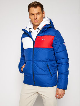TOMMY HILFIGER TOMMY HILFIGER Daunenjacke Tjm Colorblock Padded DM0DM09375 Blau Regular Fit