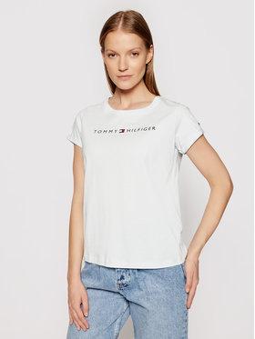 Tommy Hilfiger Tommy Hilfiger T-shirt Rn Tee Ss Logo UW0UW01618 Plava Regular Fit