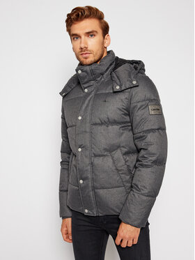 Calvin Klein Calvin Klein Pūkinė striukė Quilted Wool Optic K10K106150 Pilka Regular Fit