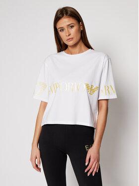 EA7 Emporio Armani EA7 Emporio Armani T-shirt 3KTT18 TJ29Z 0101 Blanc Regular Fit