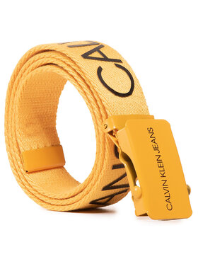 Calvin Klein Jeans Calvin Klein Jeans Moteriškas Diržas Canvas Logo Belt IU0IU00125 Geltona