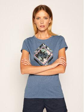 Jack Wolfskin Jack Wolfskin T-Shirt Tropical Aquare 1806931 Blau Slim Fit