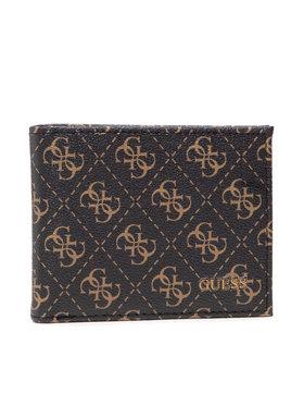 Guess Guess Veľká pánska peňaženka Vezzola (4G Logo Basique) SLG SMVEZL LEA27 Hnedá