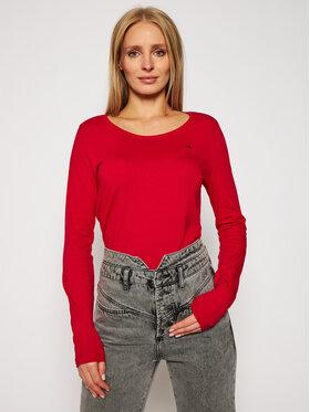 Calvin Klein Calvin Klein Blúz Ls Scoop K20K202438 Piros Regular Fit
