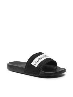 Calvin Klein Jeans Calvin Klein Jeans Klapki Slide Tape Inst Co YM0YM00257 Czarny