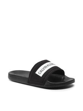 Calvin Klein Jeans Calvin Klein Jeans Natikače Slide Tape Inst Co YM0YM00257 Crna
