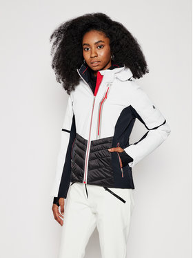Descente Descente Lyžařská bunda Melina DWWQGK17 Bílá Slim Fit