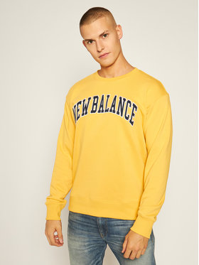 New Balance New Balance Sweatshirt Athletics Varsity Pack Crew MT03515 Gelb Relaxed Fit