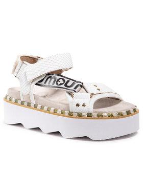 Mou Mou Sandały New Bio Sandal Side Logo SW271006N Biały