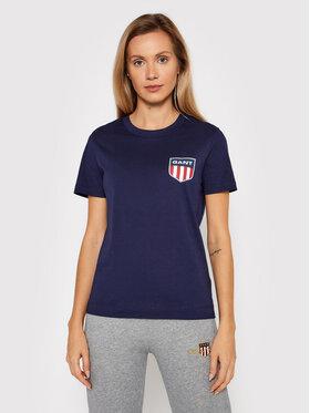 Gant Gant T-Shirt Retro Shield 4200219 Dunkelblau Relaxed Fit