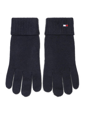 Tommy Hilfiger Tommy Hilfiger Dámské rukavice Essential Knit Gloves AW0AW09027 Tmavomodrá