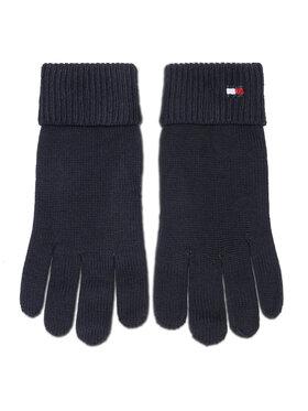 TOMMY HILFIGER TOMMY HILFIGER Moteriškos Pirštinės Essential Knit Gloves AW0AW09027 Tamsiai mėlyna