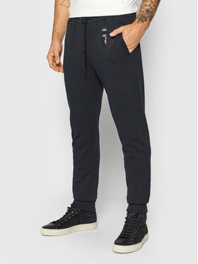 Trussardi Trussardi Spodnie dresowe Fleece Brushed 52P00204 Czarny Regular Fit