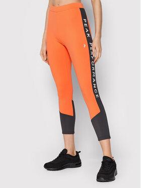 Peak Performance Peak Performance Leggings G76785040 Arancione Slim Fit