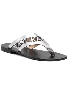 KARL LAGERFELD KARL LAGERFELD Flip flop KL80409 Argintiu