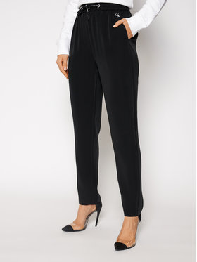 Calvin Klein Jeans Calvin Klein Jeans Pantaloni di tessuto J20J215029 Nero Regular Fit