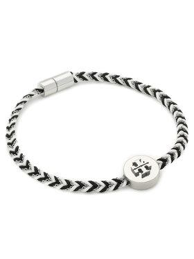 Tory Burch Tory Burch Náramek Kira Braided Bracelet 78923 Černá