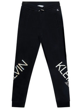 Calvin Klein Jeans Calvin Klein Jeans Teplákové kalhoty Hero Logo IG0IG00556 Černá Regular Fit