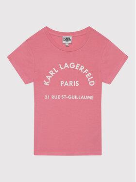 KARL LAGERFELD KARL LAGERFELD Тишърт Z15T59 S Розов Regular Fit