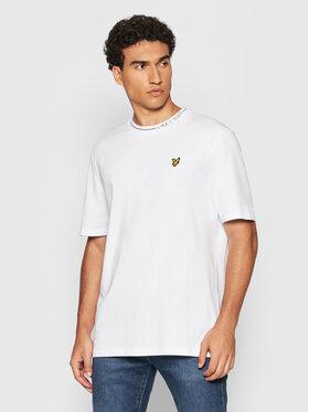 Lyle & Scott Lyle & Scott T-Shirt Branded Ringer TS1357V Biały Relaxed Fit