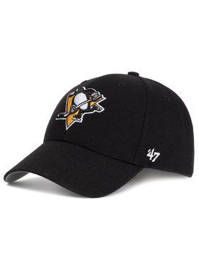 47 Brand 47 Brand Шапка с козирка Pittsburgh Penguins H-MVP15WBV-BKB Черен