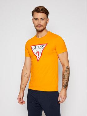 Guess Guess T-shirt M0BI71 I3Z11 Giallo Slim Fit