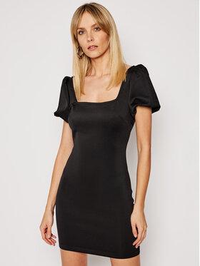 Guess Guess Kokteilinė suknelė W1GK14 K3PP2 Juoda Slim Fit
